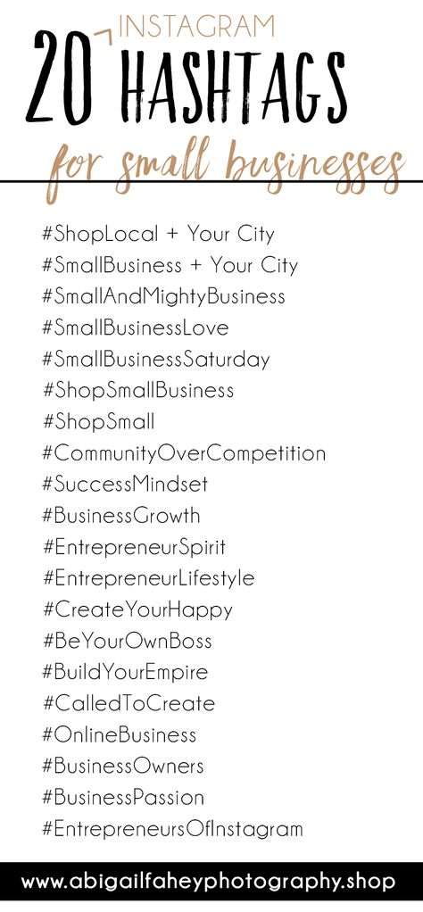 20 Instagram Hashtags for your small business | Small business tips and tricks