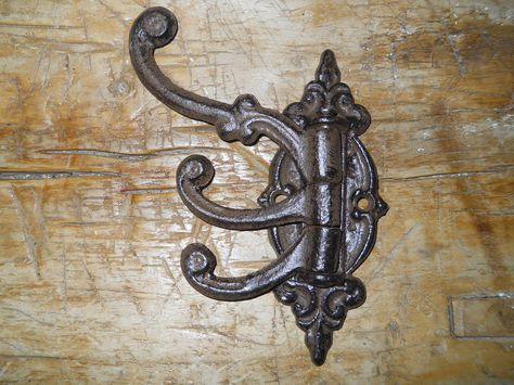 Lot 5 Anchor Style Cast Iron Wall Coat Hooks Hat Hook Hall Tree Black S Size