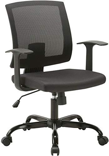 New Clatina Mid Back Mesh Office Desk Chair Lumbar Support Armrest