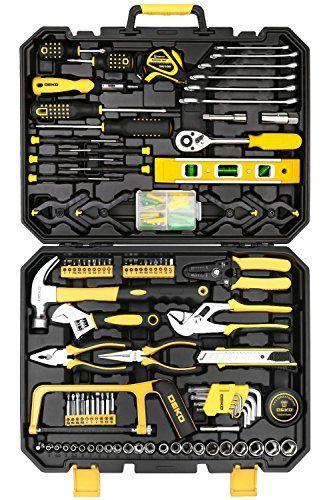 DEWALT 181 Piece Mechanics Tool Set Handtools Garage Workshop Case Box Organizer