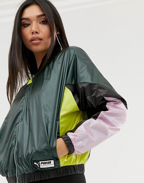 Puma Woven Color Block Shell Jacket