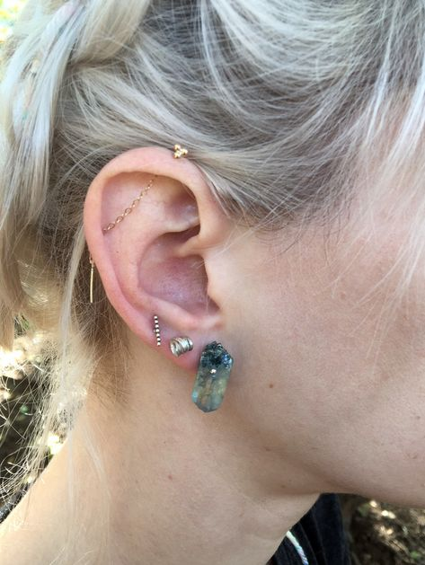 this listing is for a single earring. really fun to replace industrial piercing, or loop around multiple holes in your ear.