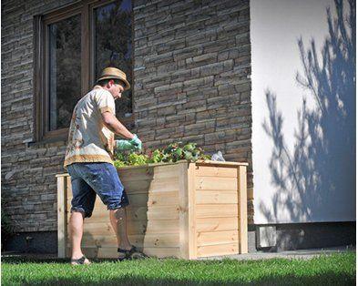 Andrewex Hochbeet 79 Cm X 150 Cm X 76 Cm Natur Hochbeet Holzarbeiten Bepflanzung