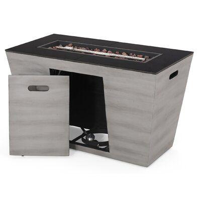 Orren Ellis Berkshire Outdoor Modern Concrete Propane Fire Pit Table Wayfair Propane Fire Pit Table Fire Pit Table Modern Outdoor