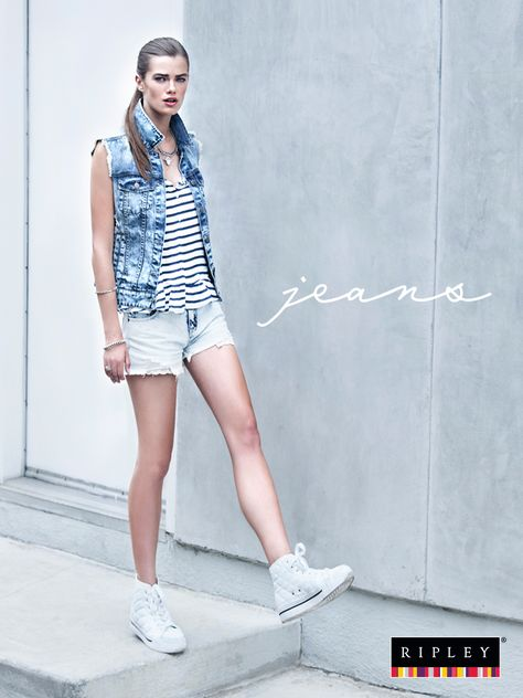 Denim + Denim = All Denim ¡Y luce perfecto!