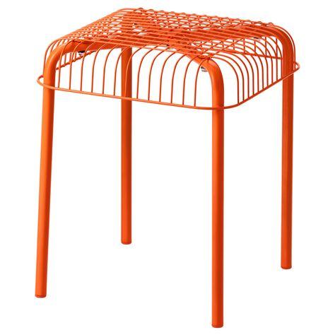 VÄSTERÖN Stool, in/outdoor - orange - IKEA | Sofa Tables | Tabouret ...