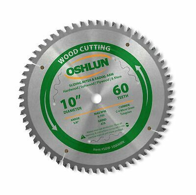 Oshlun Sbw 100060n 10 Inch 60 Tooth Negative Hook Finishing Atb Saw Blade Wit Ebay In 2020 Saw Blade 10 Things Blade