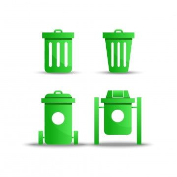 Green Trash Icon Vector On White Background Trash Can Bin Png And Vector With Transparent Background For Free Download Geometric Background Clean Containers Prints For Sale