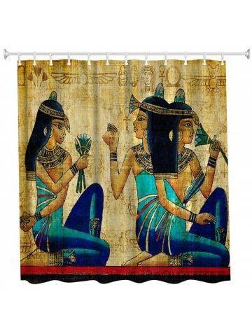 Ancient Egyptian Women Polyester Shower Curtain Bathroom High