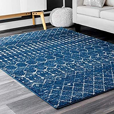Amazon Com Nuloom Moroccan Blythe Area Rug 8 10 X 12 Blue Kitchen Dining In 2020 Area Rugs Moroccan Area Rug Rugs In Living Room