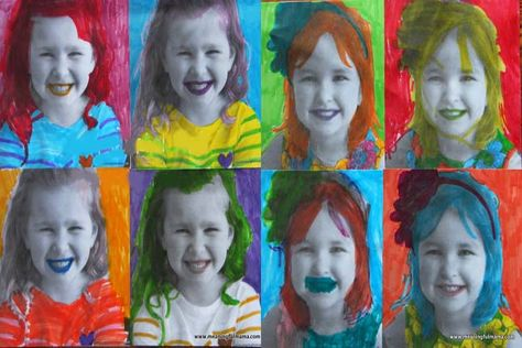 Andy Warhol Portraits--Turn a photo of your child into a work of art with this unique craft.