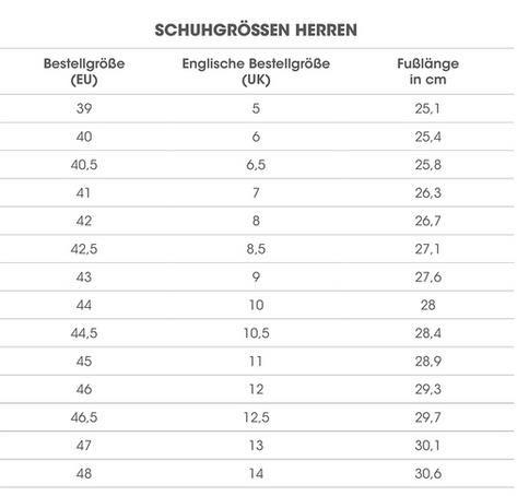 new products 76c61 1bff6 herren schuh größentabelle | Schuhe in 2019 ...
