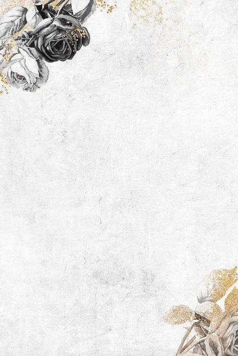 Blank floral shimmering wallpaper vector | premium image by rawpixel.com / NingZk V. #vector #vectoart #digitalpainting #digitalartist #garphicdesign #sketch #digitaldrawing #doodle #illustrator #digitalillustration #modernart #flower #floral