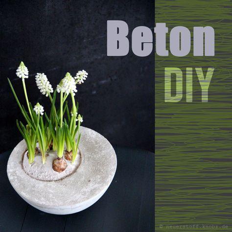 Beton DIY ::: Gefässe selber machen