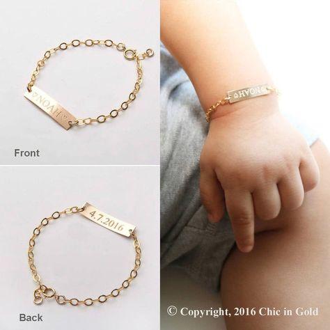 Custom Baby Name bracelet-Adjustable Baby Toddler Child ID Bracelet-Personalized Girl Boy Gold Benutzerdefinierte Baby Name Armband einstellbar Baby Kleinkind Kind ID