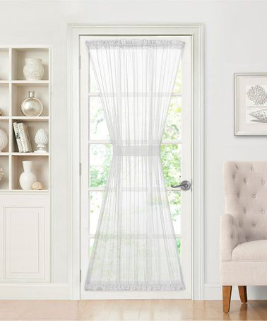 This Semisheer Door Curtain Tie Back Is Perfect Zulilyfinds French Door Curtains Panel Curtains Door Curtains