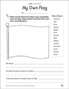 My Own Flag Draw And Write Prompt By Scholastic Writing Prompts Problem Based Learning Learning Problems