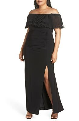 6cc7037a3a0 XSCAPE Designer Pleated Chiffon Popover Gown | Avivey (Style Lives ...