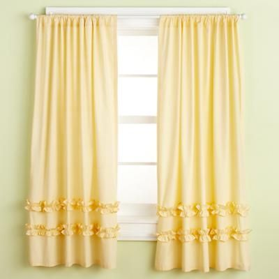 Pink Ruffle Curtains Kids, Yellow Ruffle Curtains