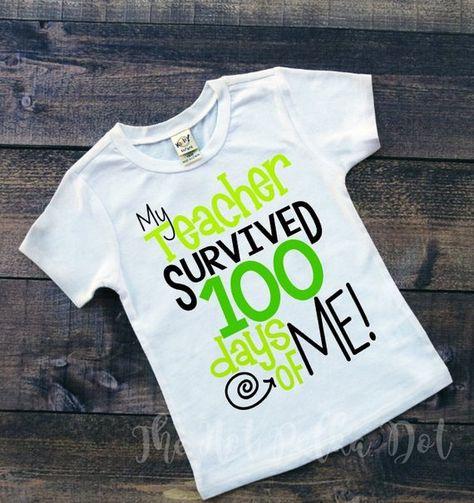 Boys 100th Day Of School Shirt My Teacher Clothing Children
