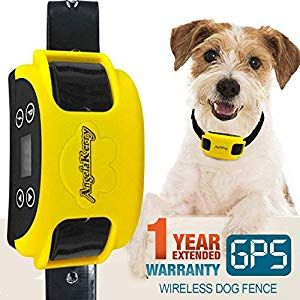 Angelakerry Wireless Dog Fence System With Gps Outdoor Pet Containment System Rechargeable Waterproof Collar Ef 851s Remote For 15lbs 120lbs Dogs 1pc Gps Rece Wireless Dog Fence Pet Containment Systems Dog Fence