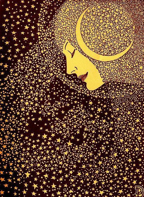 "chorisarautrui: """"Lady of the Night"" Illustration de l'artiste américain Don Blanding (1894-1957) """