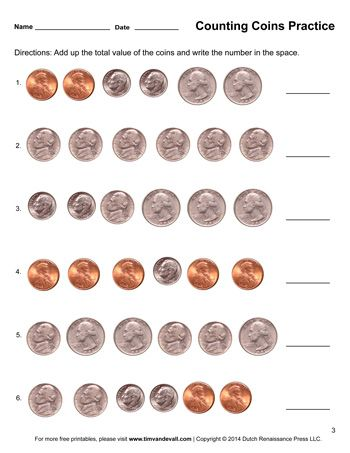 Here You Will Find My Collection Of Math Printables Including Math Worksheets And Temp Counting Coins Worksheet Money Worksheets Kindergarten Money Worksheets Counting coins worksheets first grade