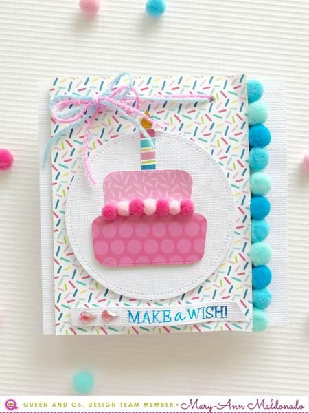 Layering Poms Birthday Bash Birthday Card Craft Handmade Birthday Cards Birthday Card Decoration