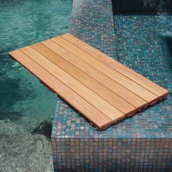 Naturale Composite 12 X 12 Interlocking Deck Tiles In Brazilian Ipe With Images Interlocking Deck Tiles Deck Tiles Outdoor Deck Tiles