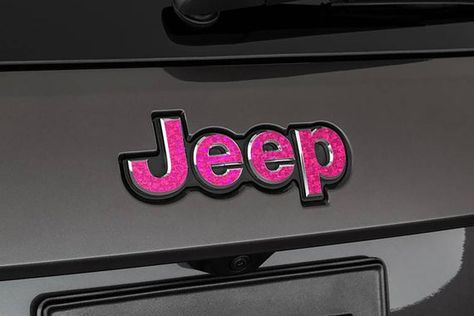 Holographic Set Of 2 Jeep Grand Cherokee Sequin Crystal Glitter