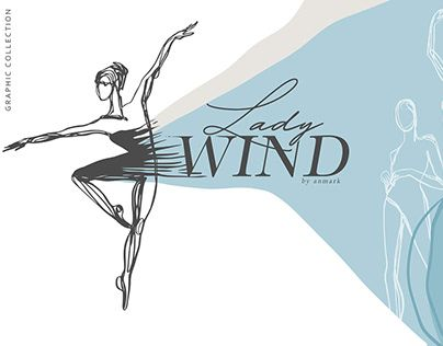 Lady Wind. Line Art Collection