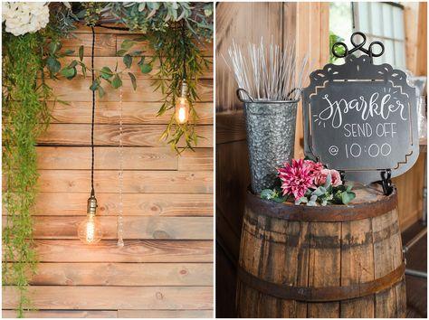 Reception decor in barn | Oak Hills Utah Dusty Rose and Gray Summer Wedding | Jessie and Dallin Photography #utahwedding #utahsummerwedding #summerwedding #mountainwedding #rockymountainwedding #blushandgraywedding #blushandgray #oakhillsutah #utahweddingvenue