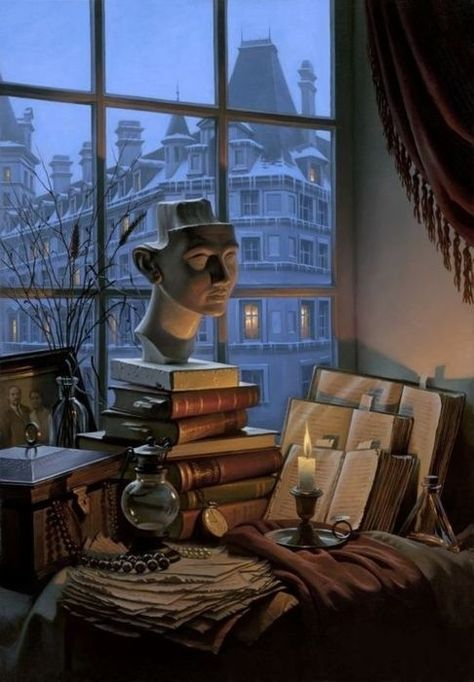 Pin by Chutikern Chalo on 浪漫&夜景 Foto Art, Old Books, Book Nooks, My New Room, Oeuvre D'art, Love Book, Vignettes, Light In The Dark, Book Lovers