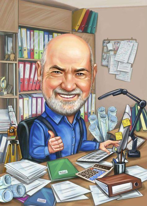 Farewell / Retirement Caricature