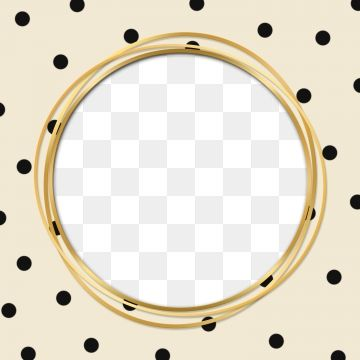 Modern Circle Golden Frame With Polka Dot Illustration Luxury Round Png Transparent Clipart Image And Psd File For Free Download Yellow Pattern Polka Prints For Sale