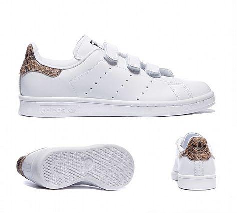 adidas Originals Stan Smith Weiß Weiß Grün B24105 Damen