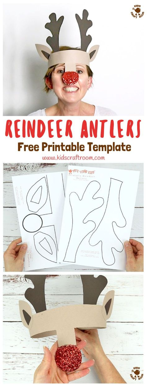 Printable Reindeer Antlers Hat