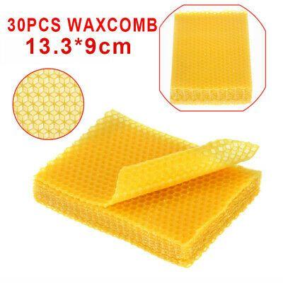 30* Honeycomb Foundation Beehive Beeswax Sheet Frames Beekeeping Tools Supplies