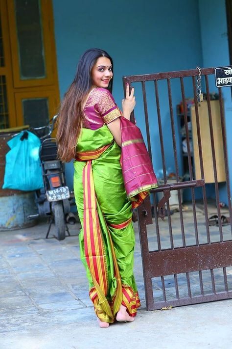 Silk Nauvari Saree