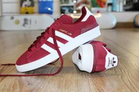 Adidas Skateboarding BurgundyWhite Busenitz Pro shoes