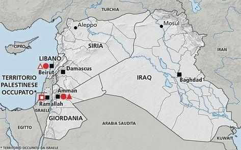 Cartina Iraq.Cartina Della Regione Del Medio Oriente Siria Libano