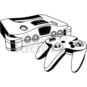 Gaming Console Black And White Vector Clip Art Black And White Clipart Design