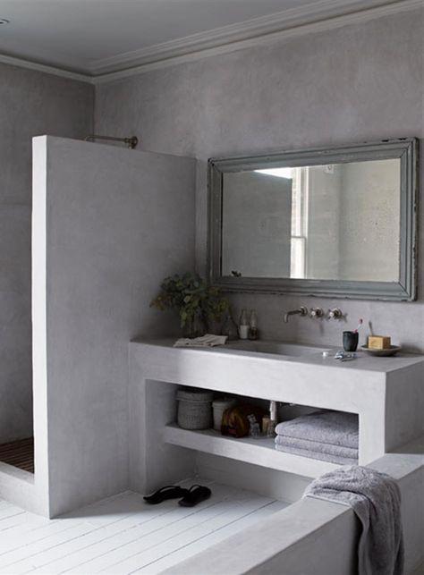 Rénovation salle de bain douche sans joint et sans carrelage - repeindre du carrelage de salle de bain