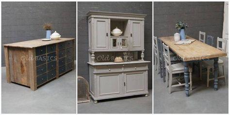 keuken houten enorme  : Houten Blad, Vintage Shabby Chic, Nice Find, Eettafel Met, Vans Photos ...