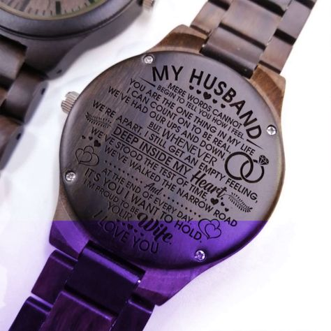 Description:     Best gift your husband for any type of occasion such as anniversary, graduation or birthday. The ultimate gift for any man in your life who loves unique and personalized watches.complete with a gift-ready watch box. #giftforhusband #engravedwoodenwatch #personalizedengravedwatch #woodenwatch  #bestgift #perfectgift  #memorablegift #personalizedgift #Birthdaygift #graduationgift #anniversarygift  #watchformen #watchforwomen #idealgift #giftforanyoccasion