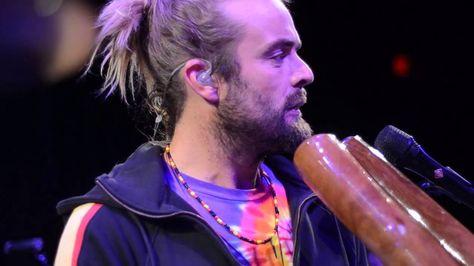 "Xavier Rudd-Lioness Eye. LOVE XAVIER!!! SO TALENTED. ""one man band"", from Australia, didgeridoo madness!!!!!"