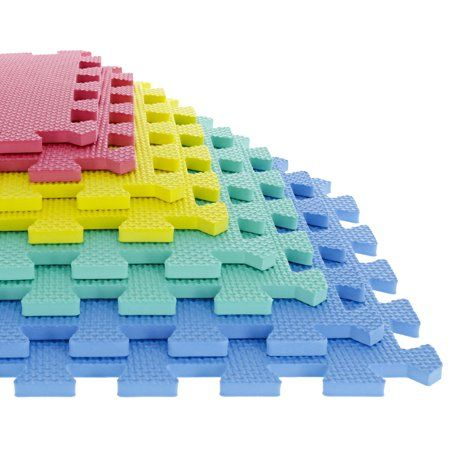 72Sqft Soft EVA Foam Interlocking Floor Mats Kids Floor Exercise Mats