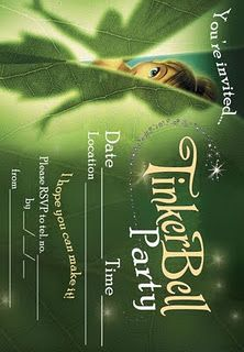 Tinkerbell party invite - free printable