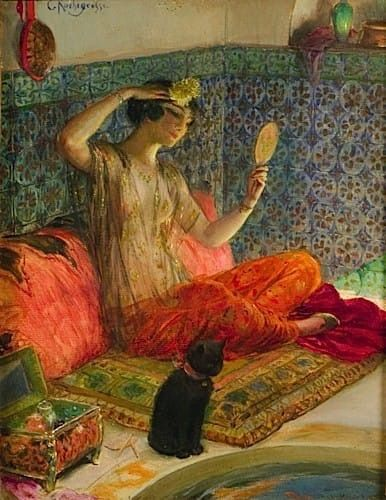Georges Antoine ROCHEGROSSE (1859- 1938) LA TOILETTE in 2020 | Illustration  art, Painting, Art
