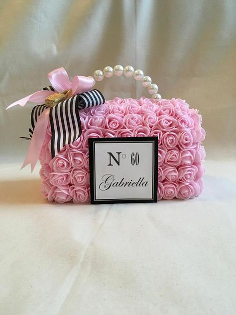 60th Birthday Centerpieces, Sweet 16 Centerpieces, Bridal Shower Centerpieces, Paris Theme Centerpieces, Chanel Birthday Party, Chanel Party, 40th Birthday, Chanel Cake, Sweet 16 Birthday